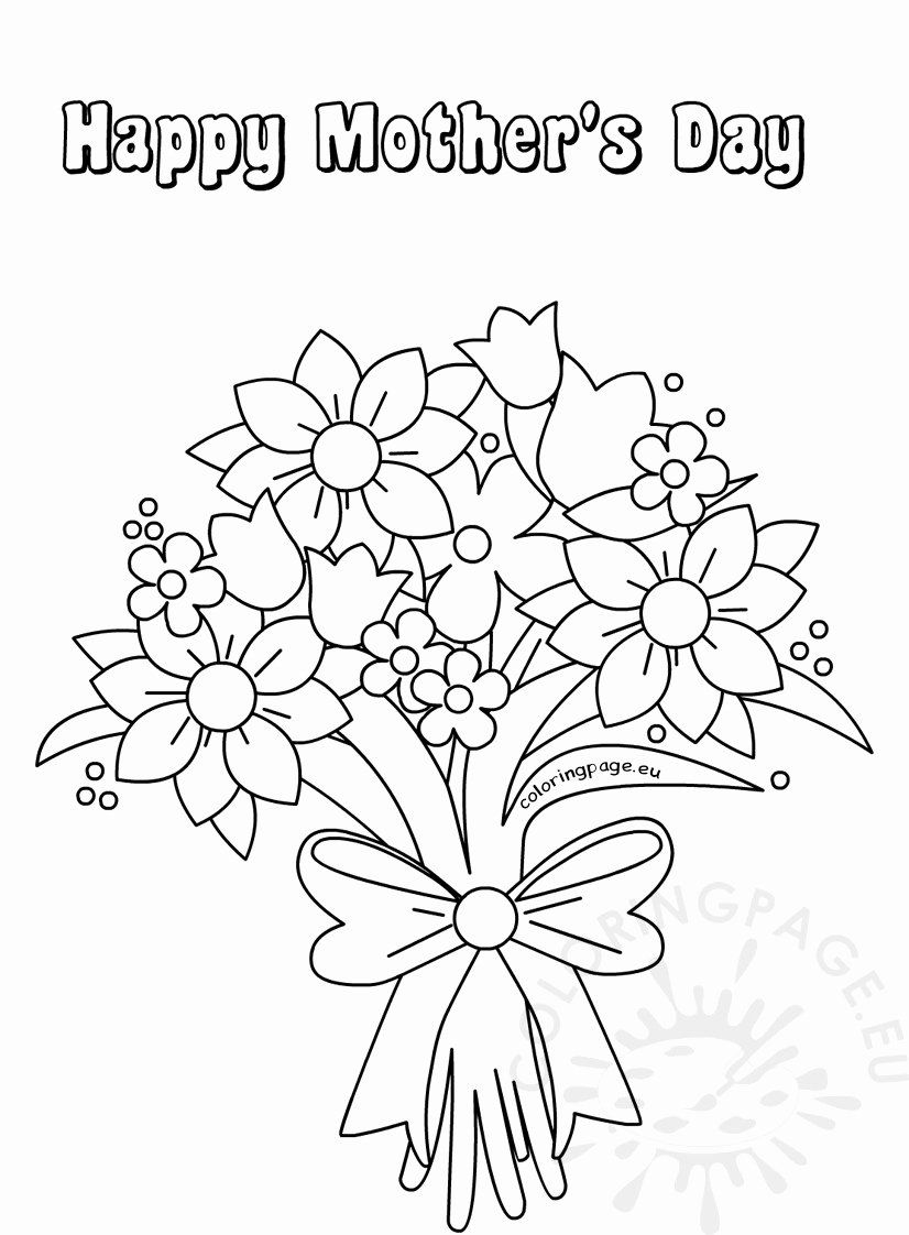 Free Printable Coloring Pages Flowers Elegant Coloring Books Cute Flower Mothers Day Coloring Pages Mothers Day Coloring Cards Printable Flower Coloring Pages
