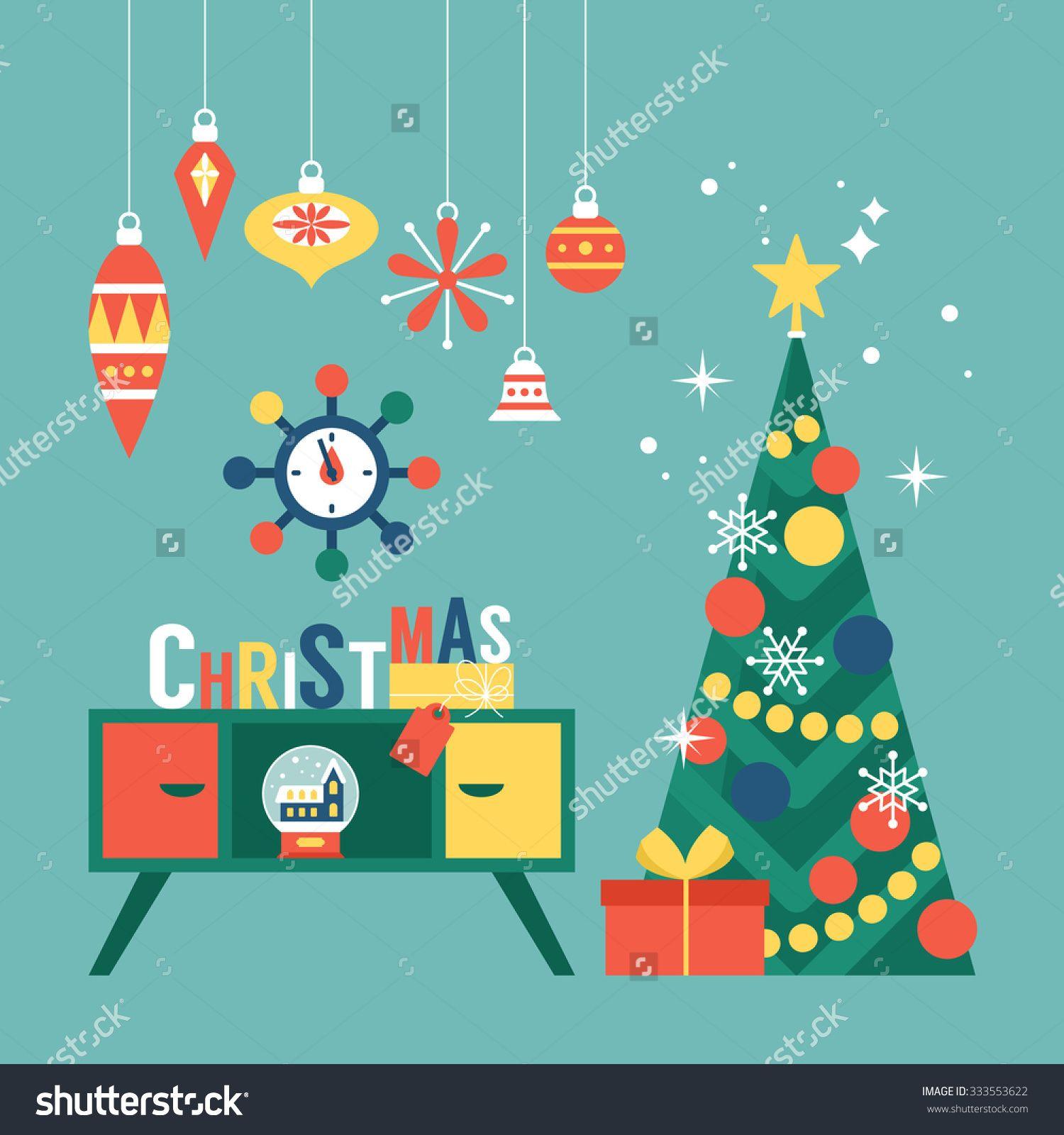 Mid century modern stock vectors vector clip art shutterstock christmas tree kristyandbryce Choice Image