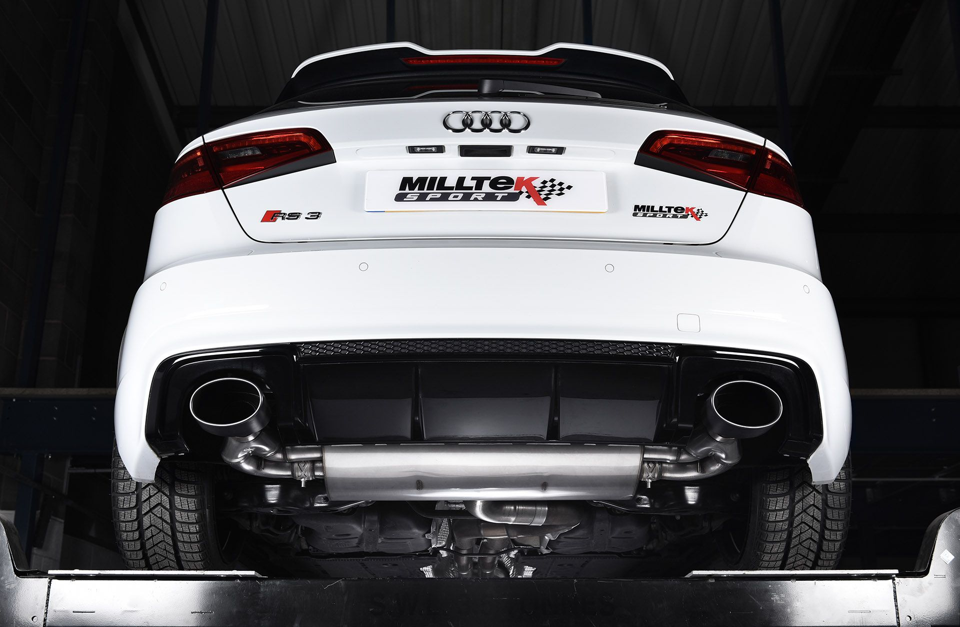 Milltek sport performance exhaust systems for the audi rs3 sportback 8v mqb
