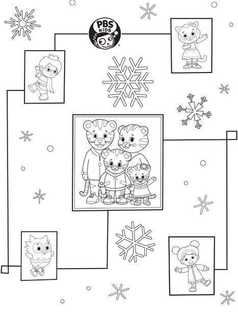 Pbs Kids Holiday Coloring Pages Printables Daniel Tiger Coloring Pages Daniel Tiger Birthday