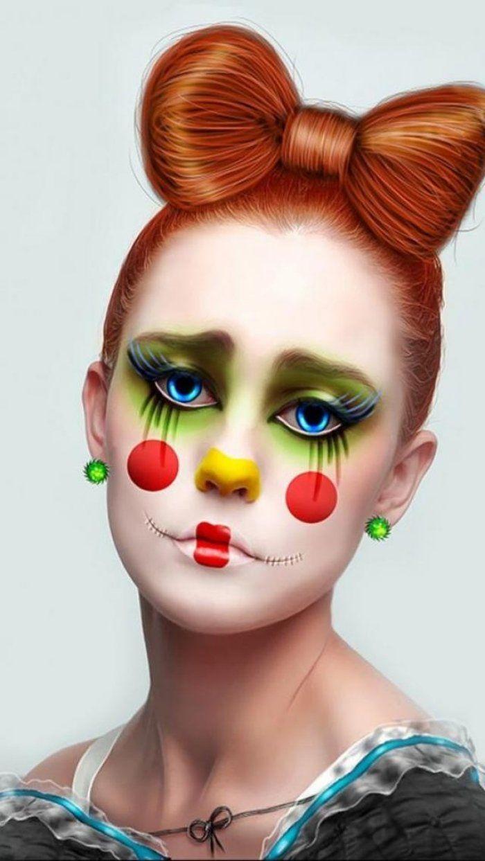 Trauriges m dchen clown schminktipps f r ein halloween for Clown schminktipps