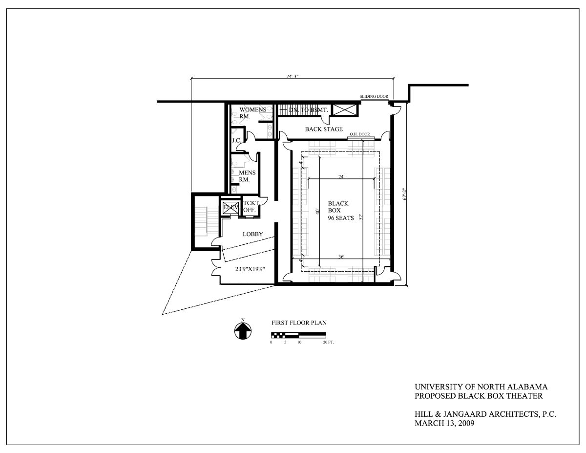 Black box theater would need to be larger to seat at for Floor plans brown university