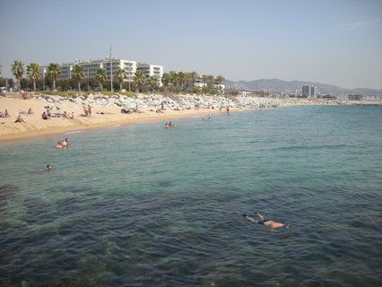 Mora Beach Located Between The Limit Of Sant Adria De Besos And