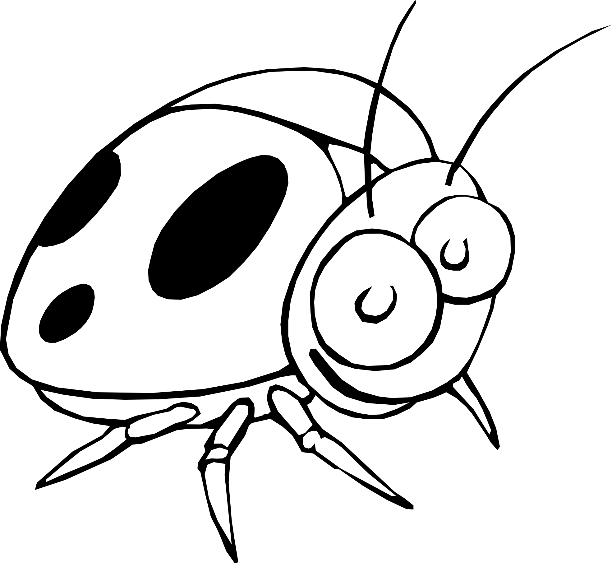 Ladybug Outline Clipart Coloring Page Wikiclipart Clip Art Free Clip Art Clipart Black And White