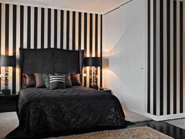 Resultado de imagem para decoração quarto feminino preto e branco ...
