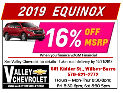 Now Until Oct 31 2018 You Can Get 16 Off Msrp On 2019 Equinox