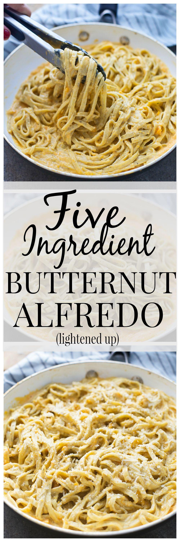 Five Ingredient Butternut Squash Alfredo