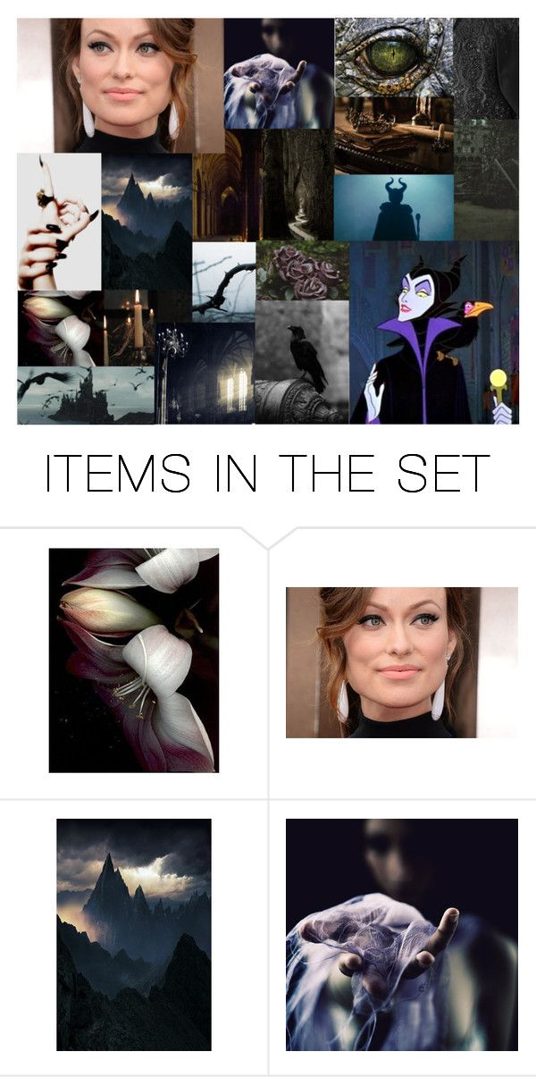 """Dreamcast: Olivia Wilde as Maleficent"" by morgan-graves ❤ liked on Polyvore featuring art"