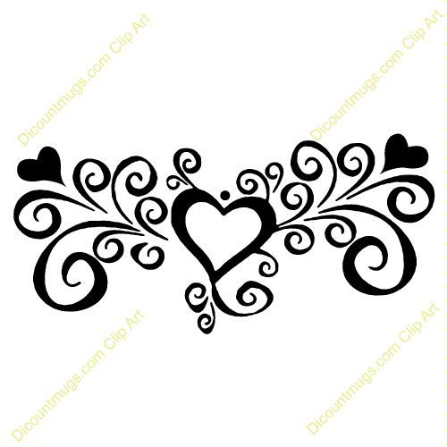 Scroll Flower Tattoo Designs