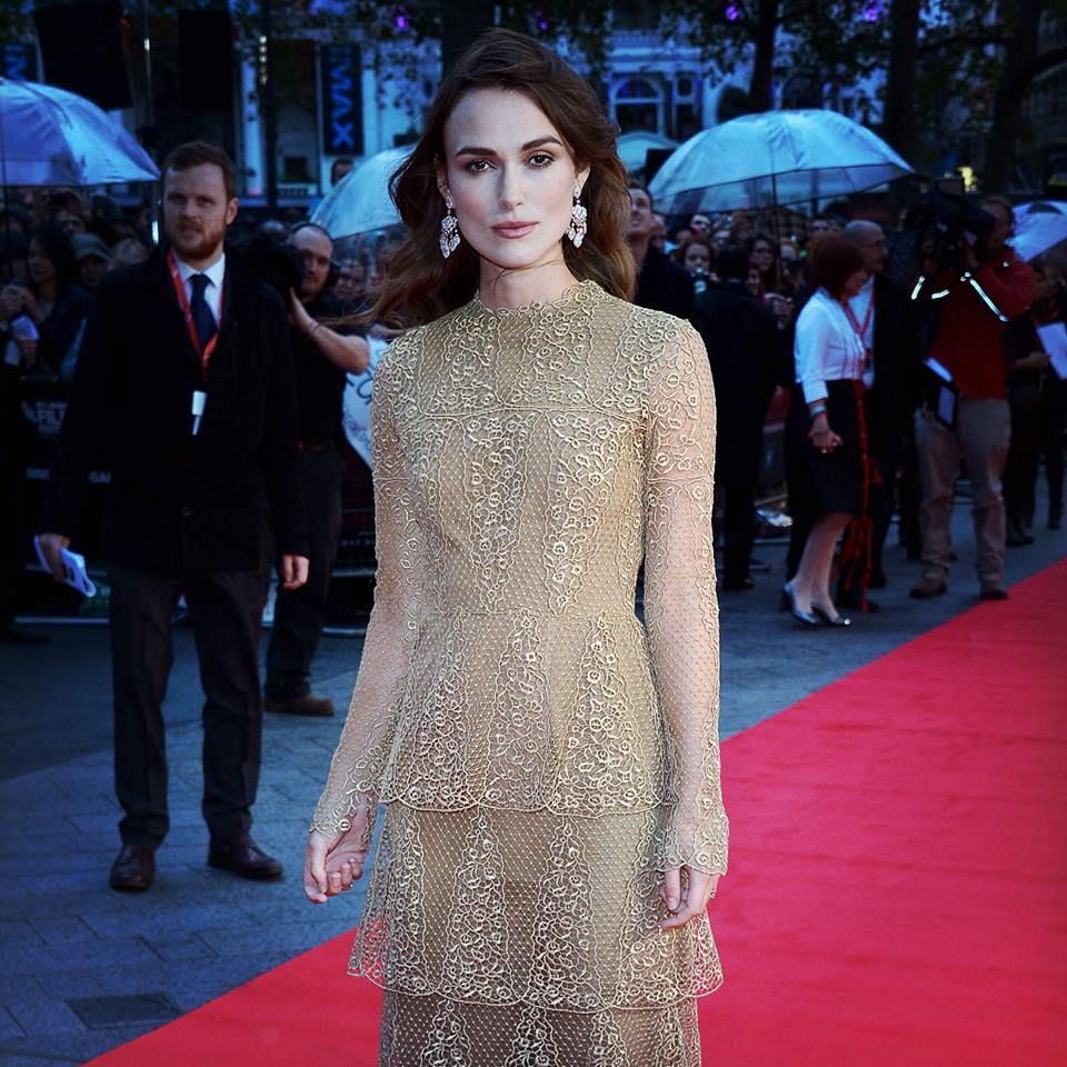 Keira knightley at the london film festival in valentino haute