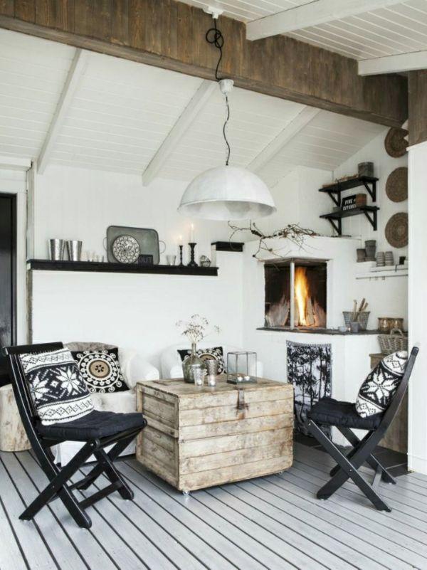 Skandinavisches Design Möbel Holzbalken