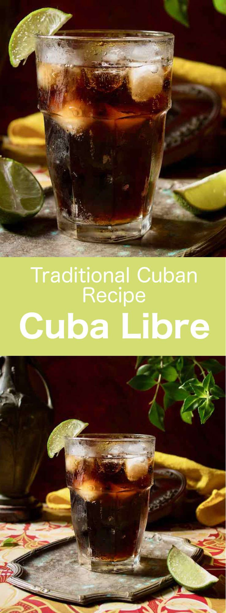 Cuba Libre is an easy-to-make traditional Cuban cocktail that is prepared with Coke, white rum, and lime, and that is served on the rocks. #Cuba #Cocktail #CubanRecipe #CubanDrink #Caribbean #CaribbeanDrink #WorldCuisine #196flavors via @196flavors #cubalibre