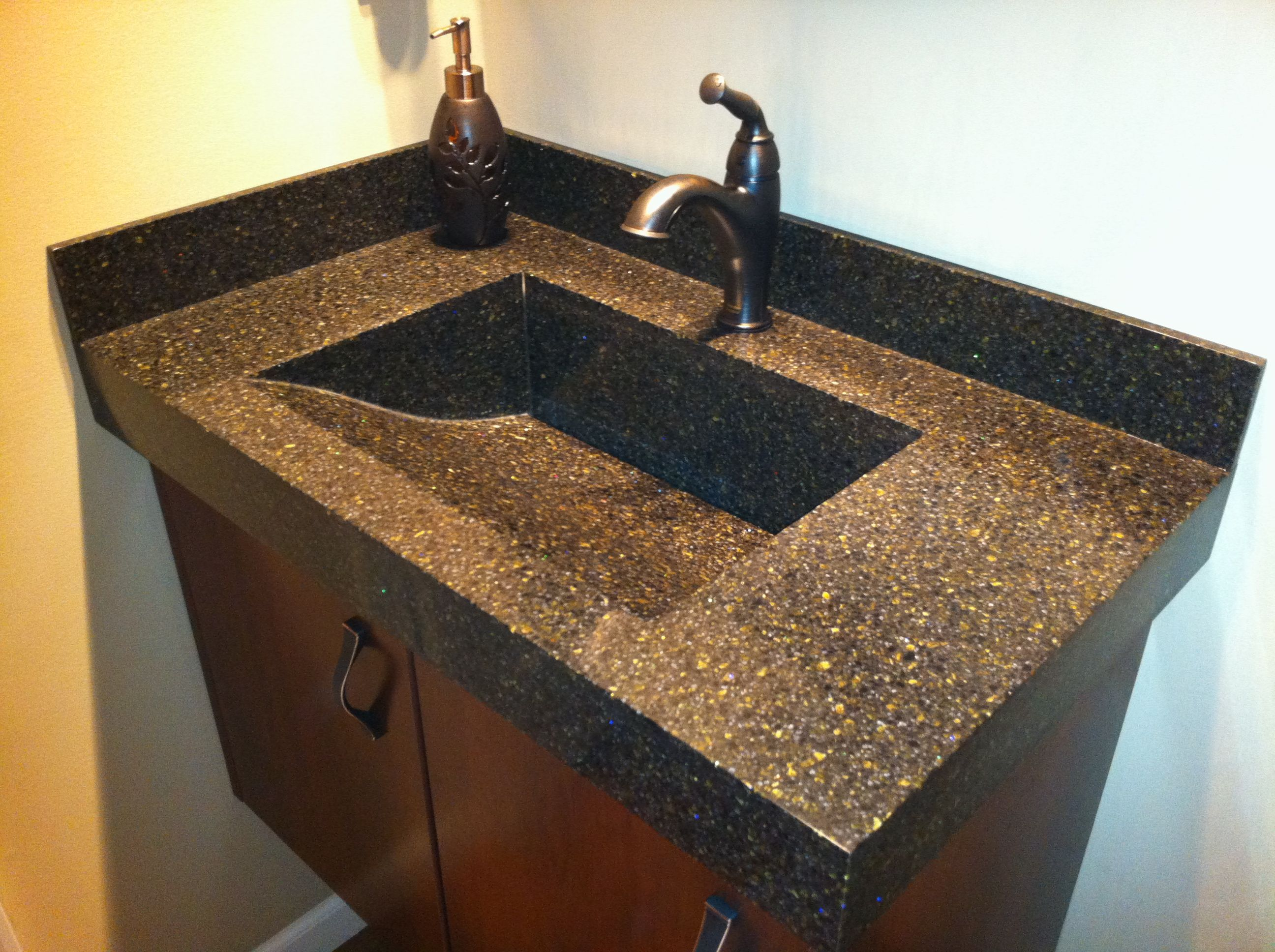 Custom Bathroom Vanities Indianapolis custom corian vanity top. fabricatedtrademark surfaces