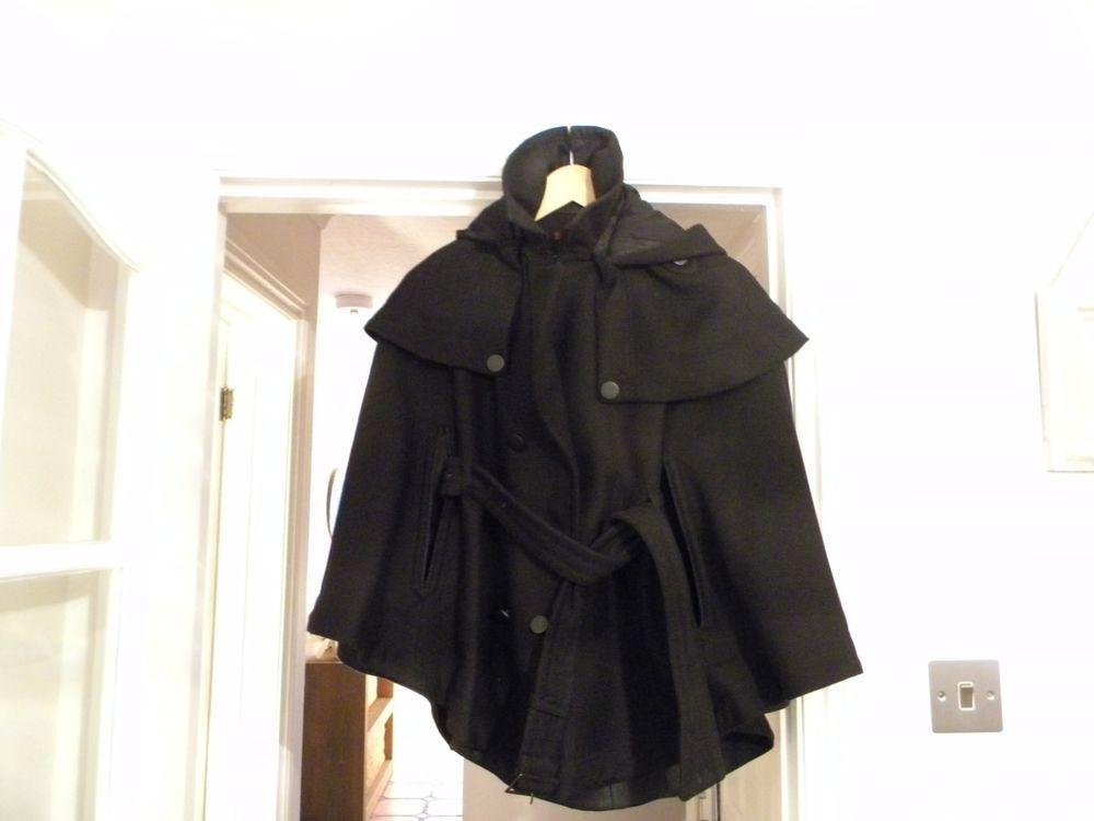 Comptoir Des Cotonniers Sakura Cape Black Size 1 Fashion Clothing Shoes Accessories Womensclothing Coatsjacketsv Clothes For Women Vest Jacket Coat