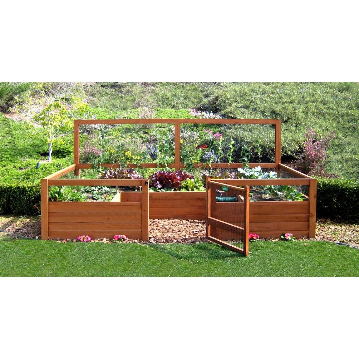 Raised Bed Gardening With A Fence Backyard Vegetable Gardens Small Vegetable Gardens Garden Kits