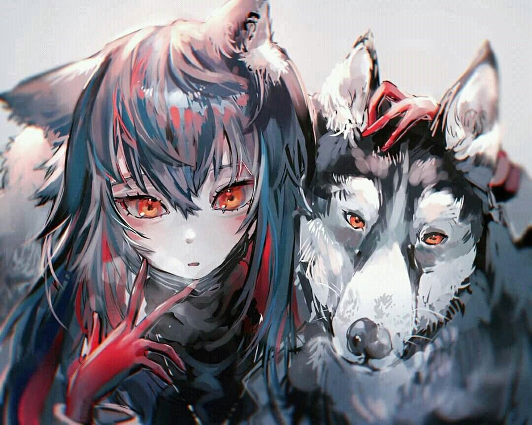 Pin By Doubele On Arknights Anime Wolf Girl Anime Character Design Anime Chibi