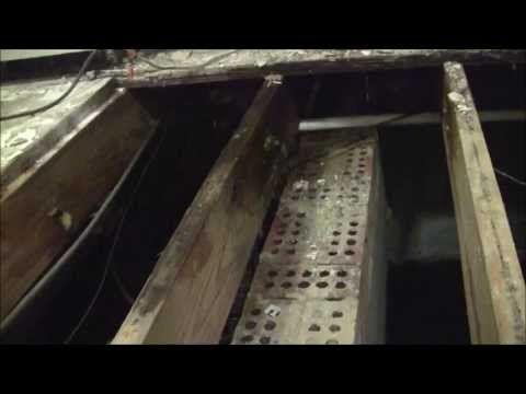 Foundation repair replacing floor joist and subfloor
