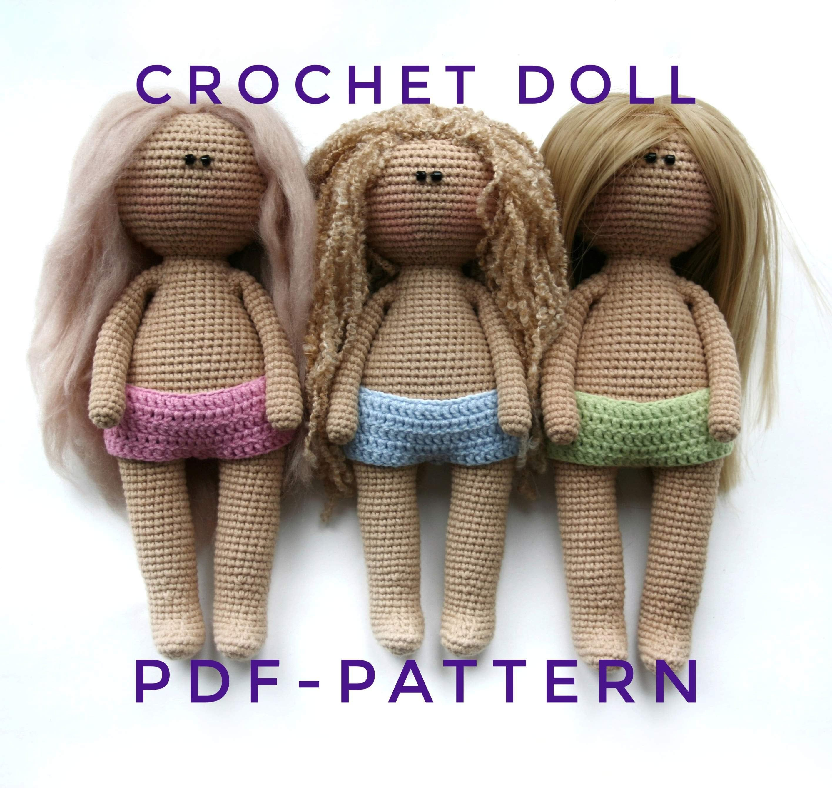 How to crochet doll body crochet - YouTube | 2681x2830