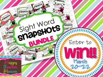 Sight Word Snapshot - sentence writing fluency HURRY!! GIVEAWAY ENDS