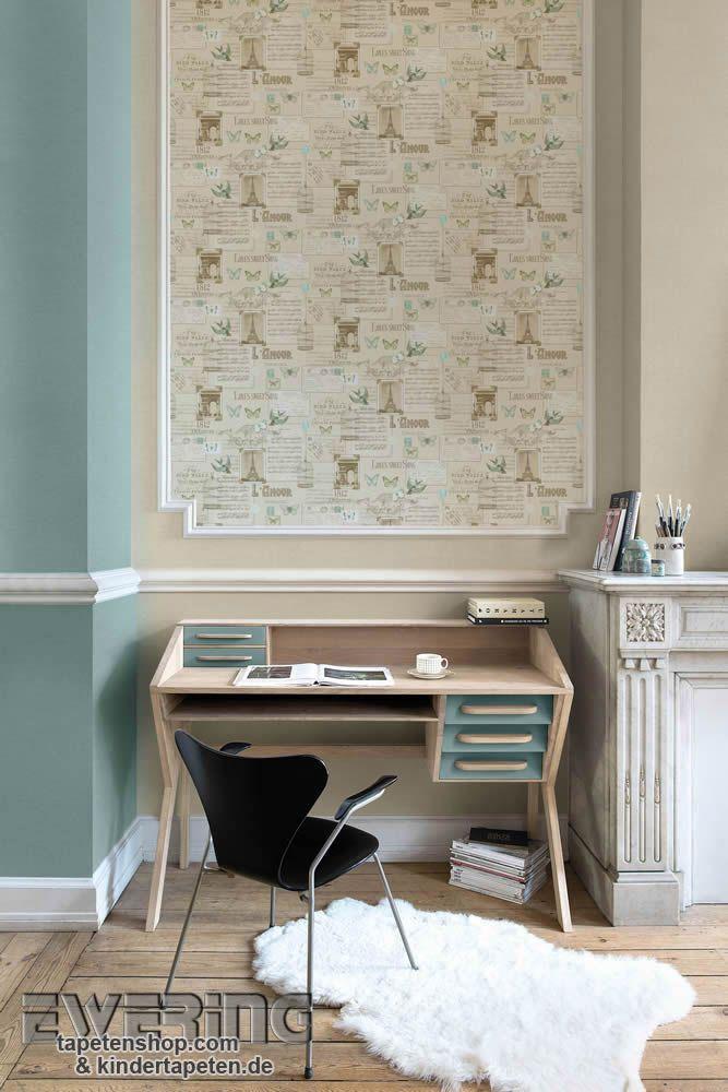 Splendour 03 - Eine beige Collage mit Texten und Bildern kommt als - tapete schlafzimmer beige