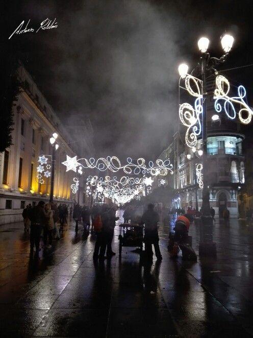 Sevilla en Sevilla, Andalucía. Navidad