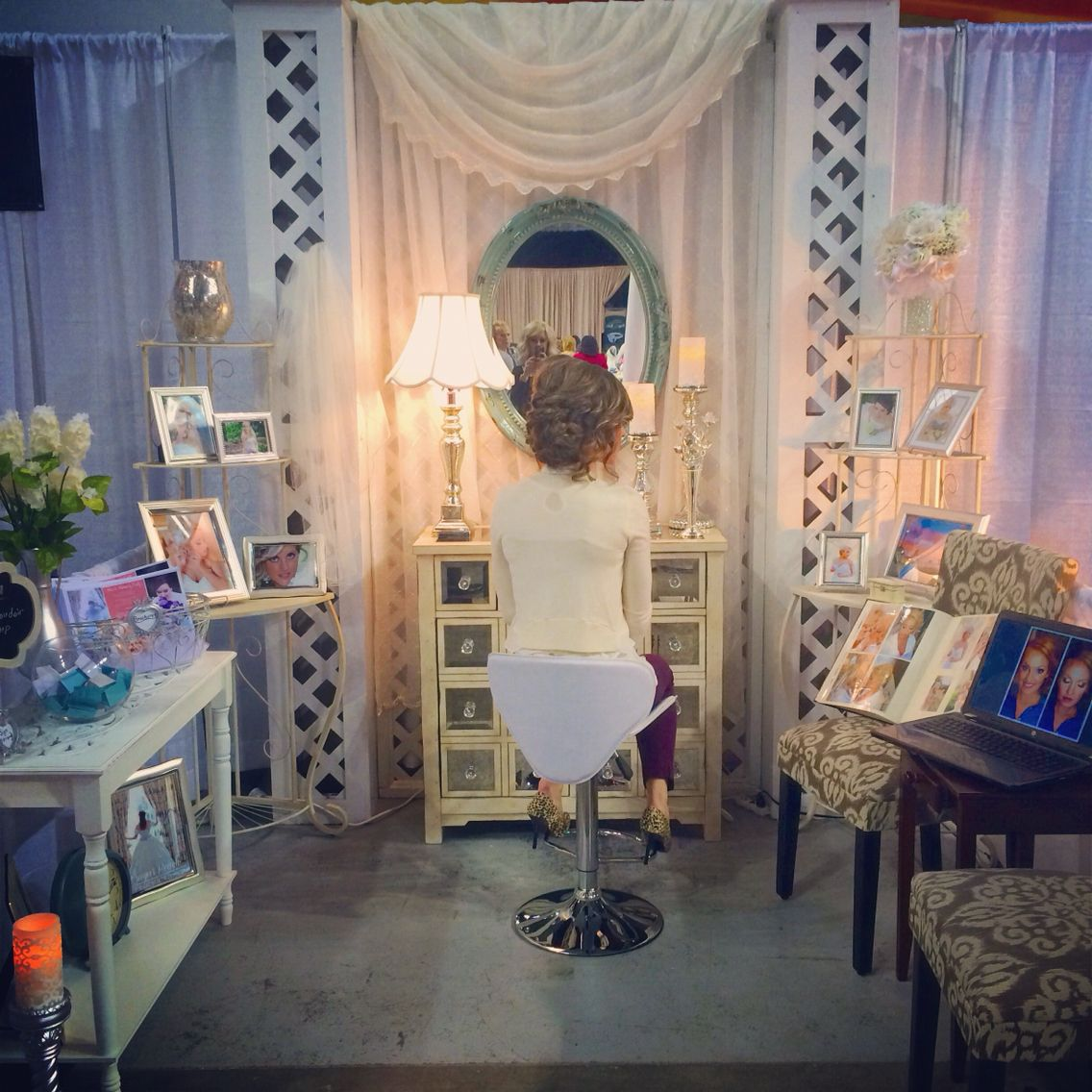 Wedding Expo Bridal Show Hair Makeup Artist Booth