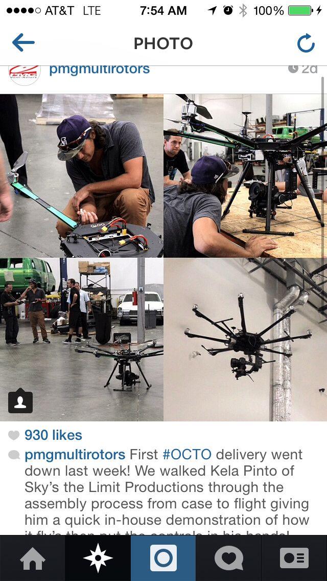 Recon Octo Octo-Copter Drone Gimbal UAV UAS RECON XL  OCTO
