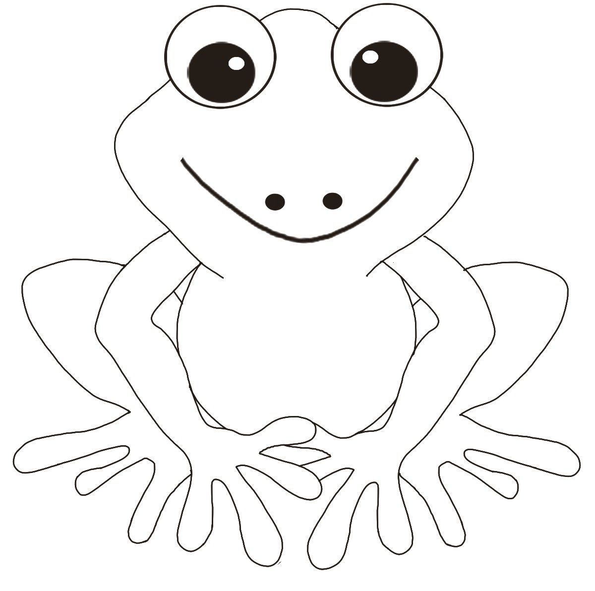 Cute Frog Pictures To Color