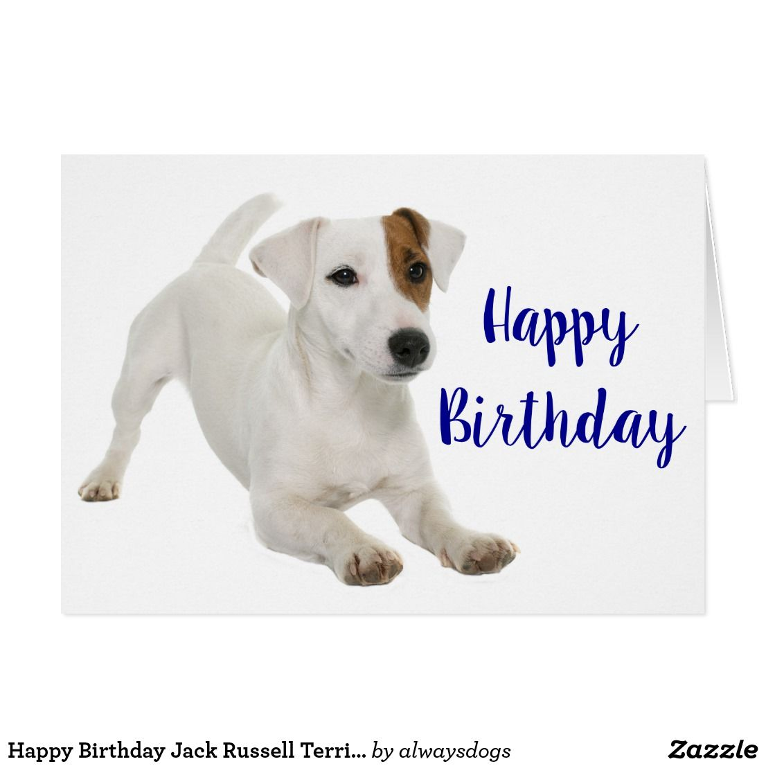 Happy Birthday Jack Russell Terrier Puppy Dog Card Zazzle Com