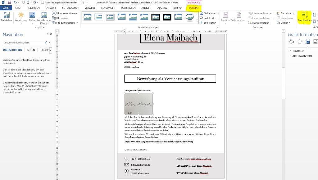 Unterschrift In Word Mit Handy Einscannen Und Freistellen Cv