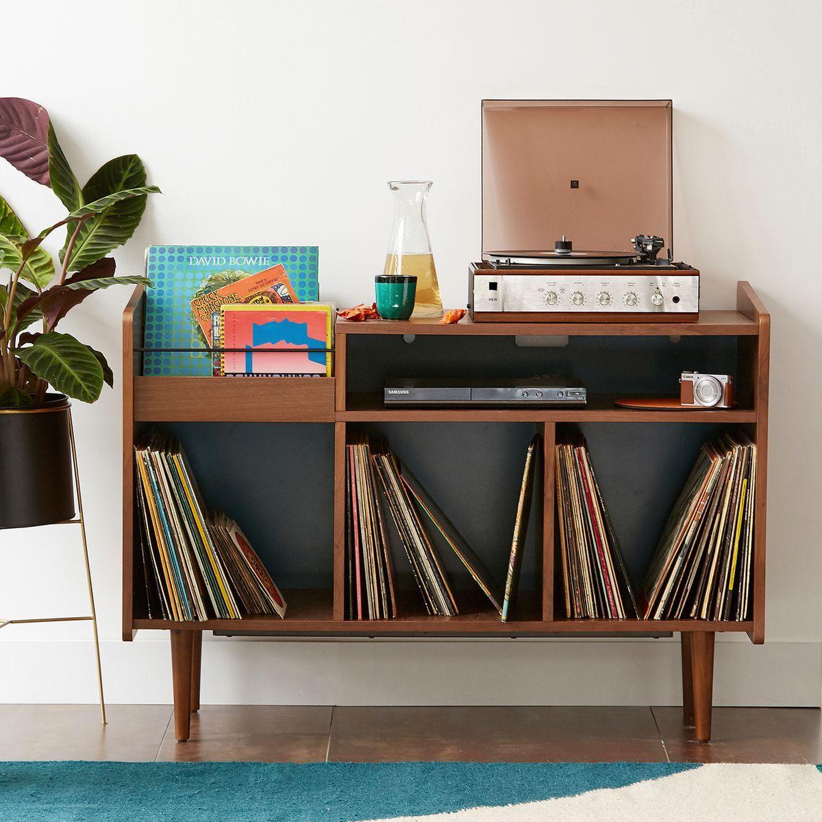 Meuble Vinyle Vintage Ronda Meuble Vinyle Meuble Hifi Rangement Vinyle