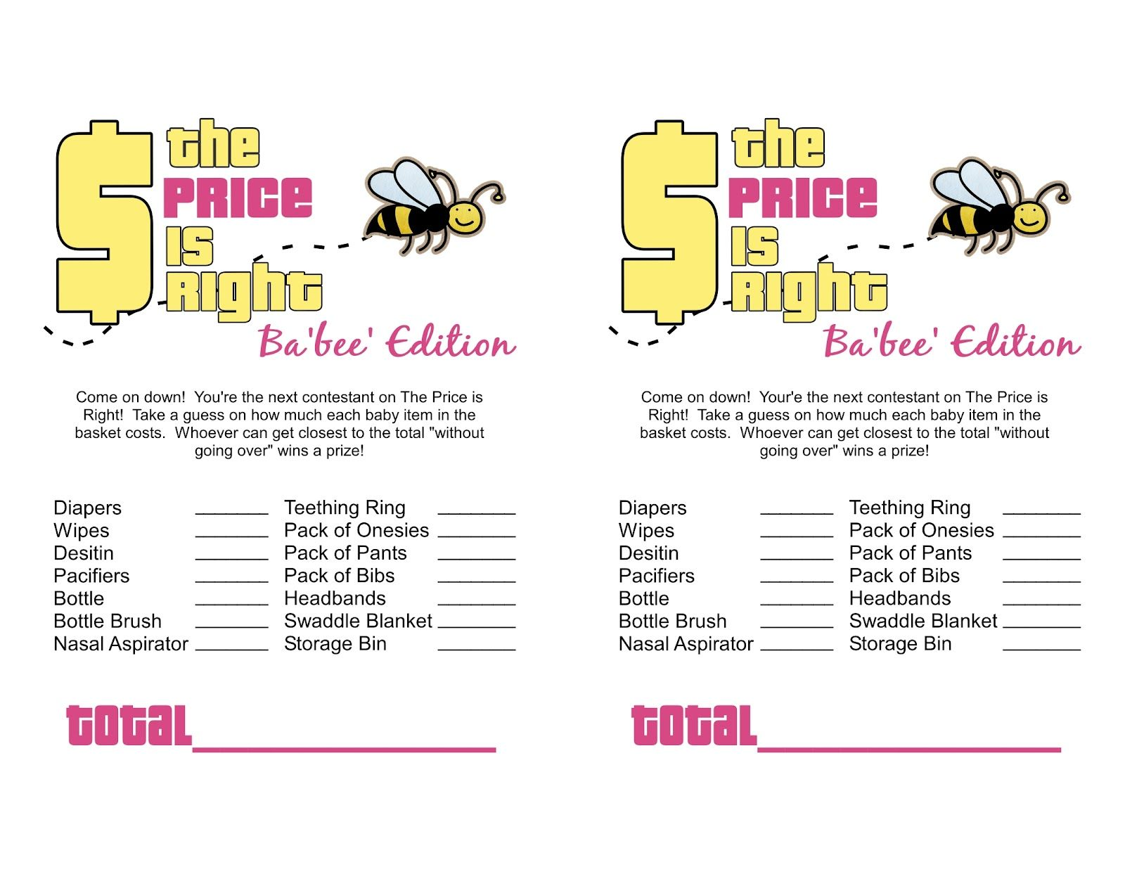 Pin By Sheeks On T Baby Shower Pinterest Baby Shower Stuff And Free  Printable Baby Shower Jeopardy Game Free Printable Baby Shower Price Is  Right Game