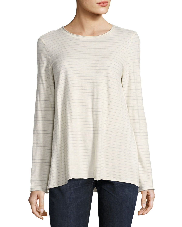 Lightweight Striped Organic Cotton Jersey Top