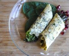 "Healthy Omelet Wrap with Pistachio Pesto, Feta & Greens by ""My Jerusalem Kitchen"""