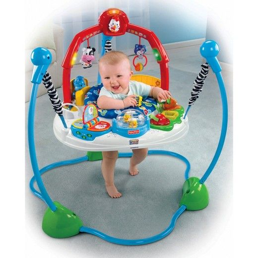 The Fisher Price Lil Laugh N Learn Jumperoo Encourages Your Baby To Jump And Move For A Whole Lot Of Laughter And F Fisher Price Jumperoo Fisher Price Jumperoo