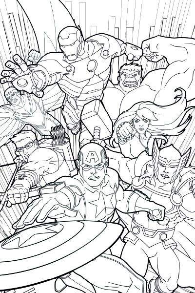 Image Of Dibujos Para Colorear E Imprimir De Los Vengadores 💠Los ...