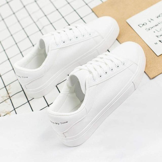 2019 Fashion White Sneakers Women Flats Canvas Shoes Women Vulcanize Shoes Summer Casual Zapatillas Mujer European Size 36-42 – 1 / 38