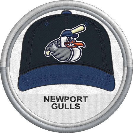 Newport Gulls Baseball Cap Hat Uniform Sports Logo New England Collegiate Baseball League Minor Leagu Baseball League Minor League Baseball Sports Logo