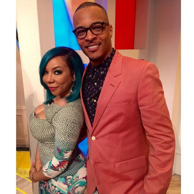 T.I. and Tiny in the building! Catch @troubleman31 and @majorgirl on #TheView today! #TheFamilyHustle #PreView