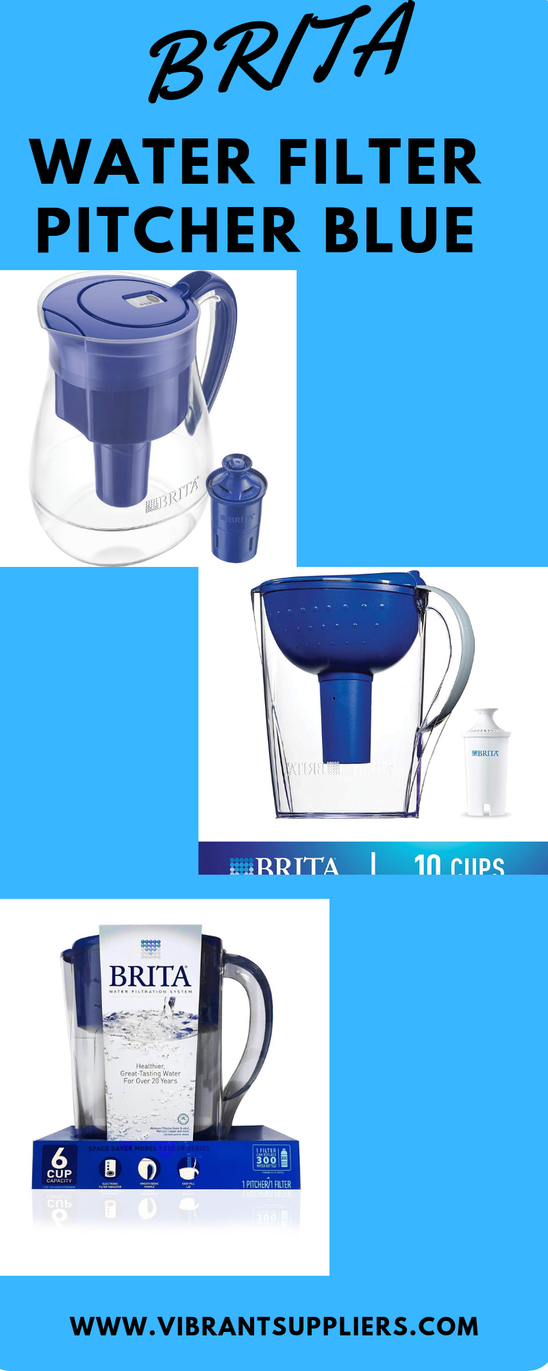 Find Out Best Brita Water Filter Pitcher Blue Water Filter