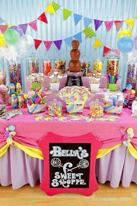 Que lleva una mesa de dulces para fiesta infantil candy - Ideas decoracion bar ...