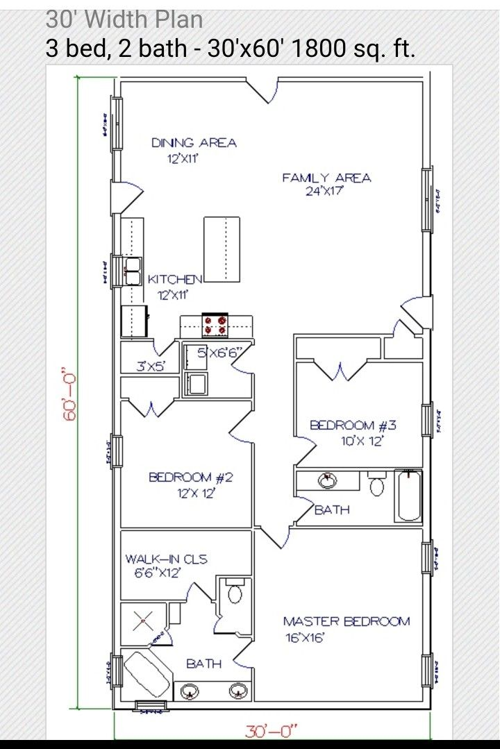 30x60 Floor Plan Barndominium Floor Plans Diy House Plans Barn Homes Floor Plans