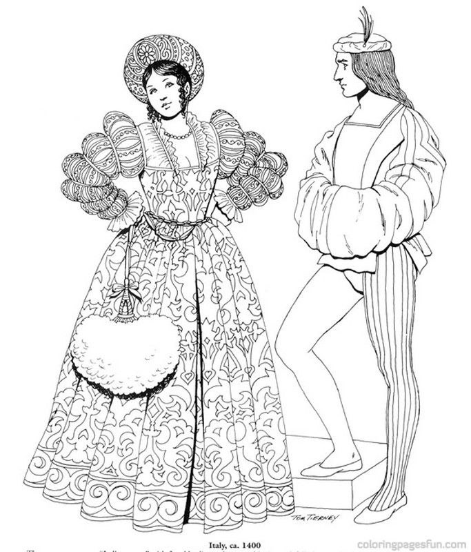 coloring pages for the renaissance - photo#16