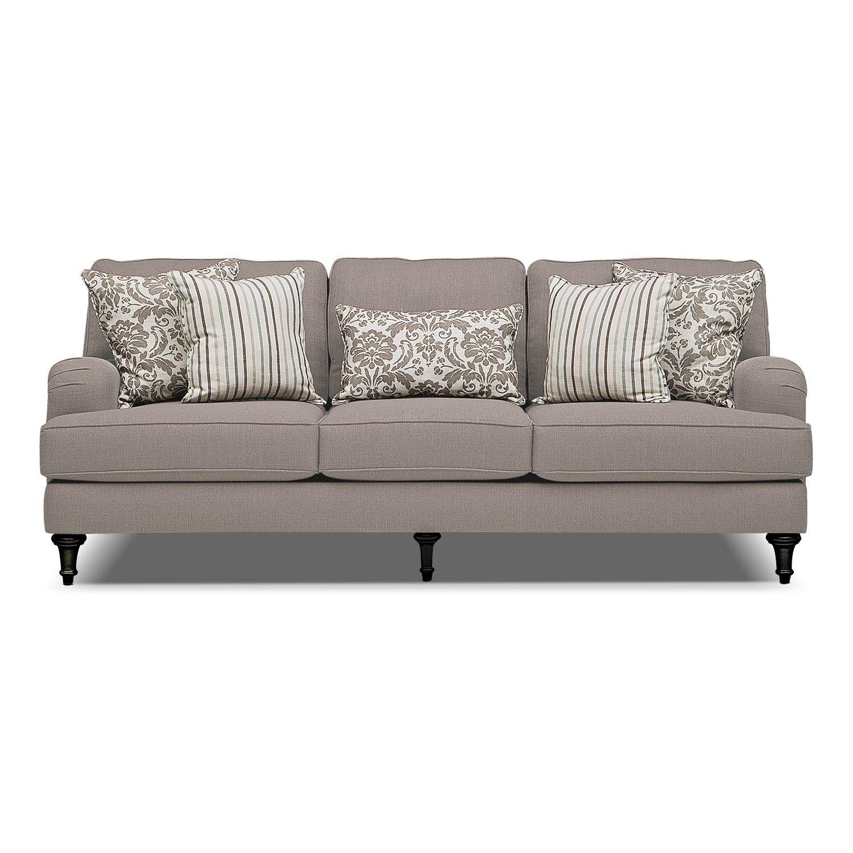 Living Room Furniture Candice Sofa Gray Value City Furniture Furniture Upholstery City Furniture