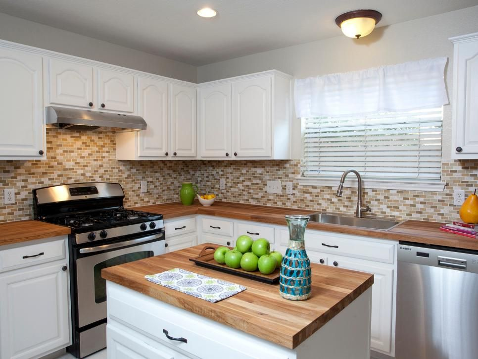 Fixer Upper Outdoor Lighting Butcher Block Countertops And A Small Mosaic Subway Tile