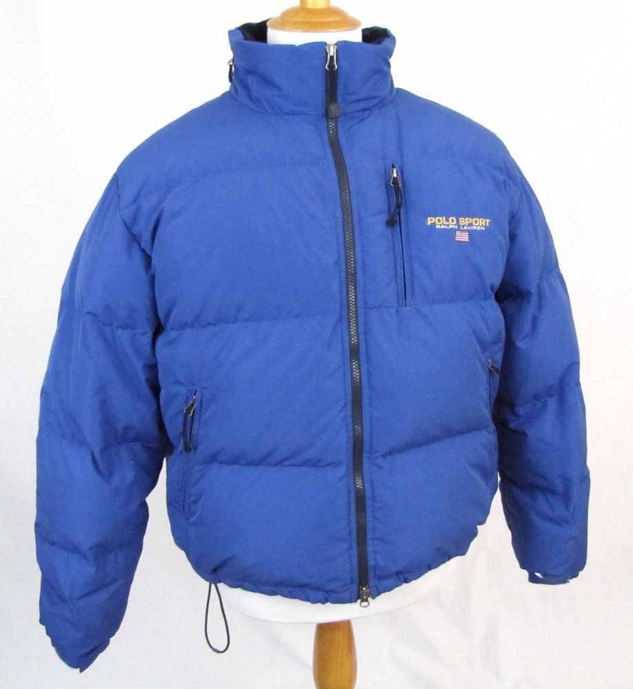 5db05c60c72809 Polo Sport Ralph Lauren Puffer Jacket Large Goose Down Feather Vintage Flag  Coat  PoloSport  Puffer