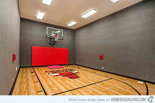 Great 15 Ideas For Indoor Home Basketball Courts | Home Design Lover