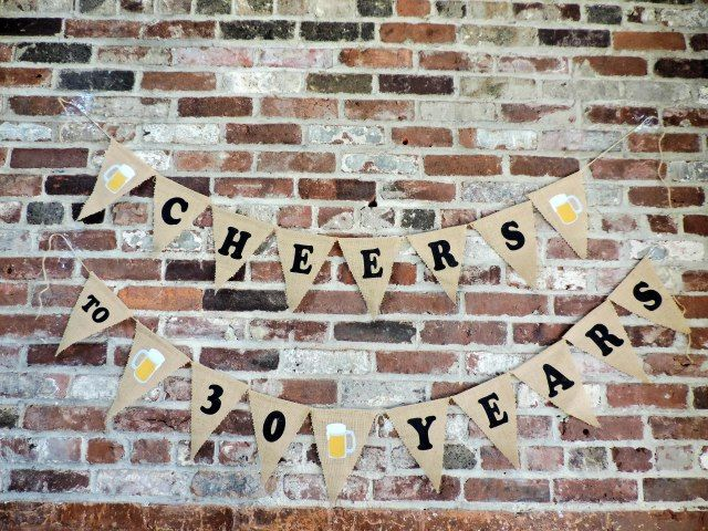 Cheers to 30 Years- Beer Themed 30th Birthday Party For Guy  via Boston Chic Party