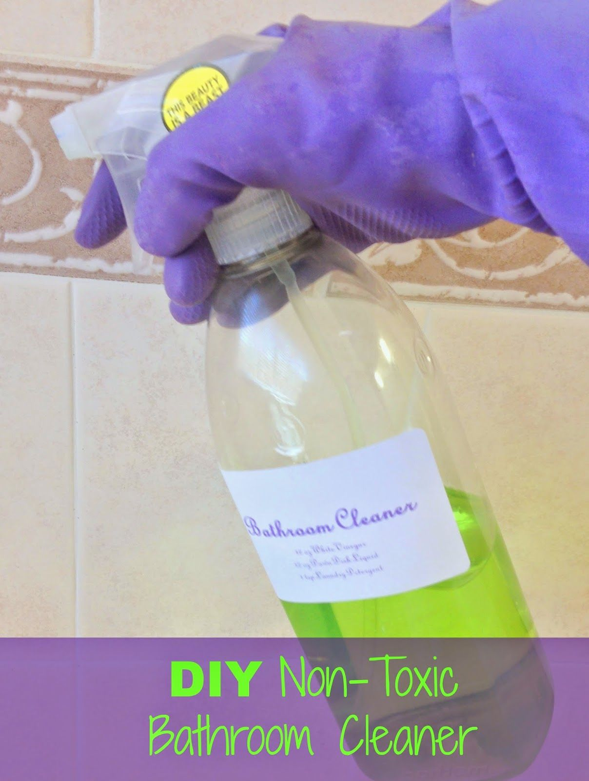 DIY NonToxic Bathroom Cleaner Bathroom Cleaning Household And - Non toxic bathroom cleaner