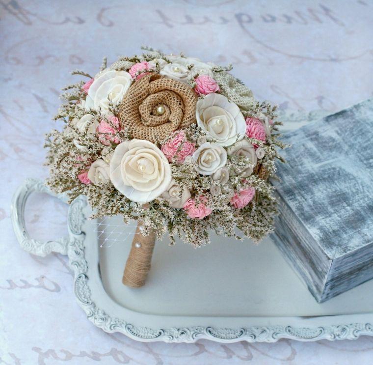 Mazzi Di Fiori Particolari Bouquet Fiori Stoffa Stile Shabby Chic Bouquet Rustico Bouquet Di Rose Bouquet Matrimonio